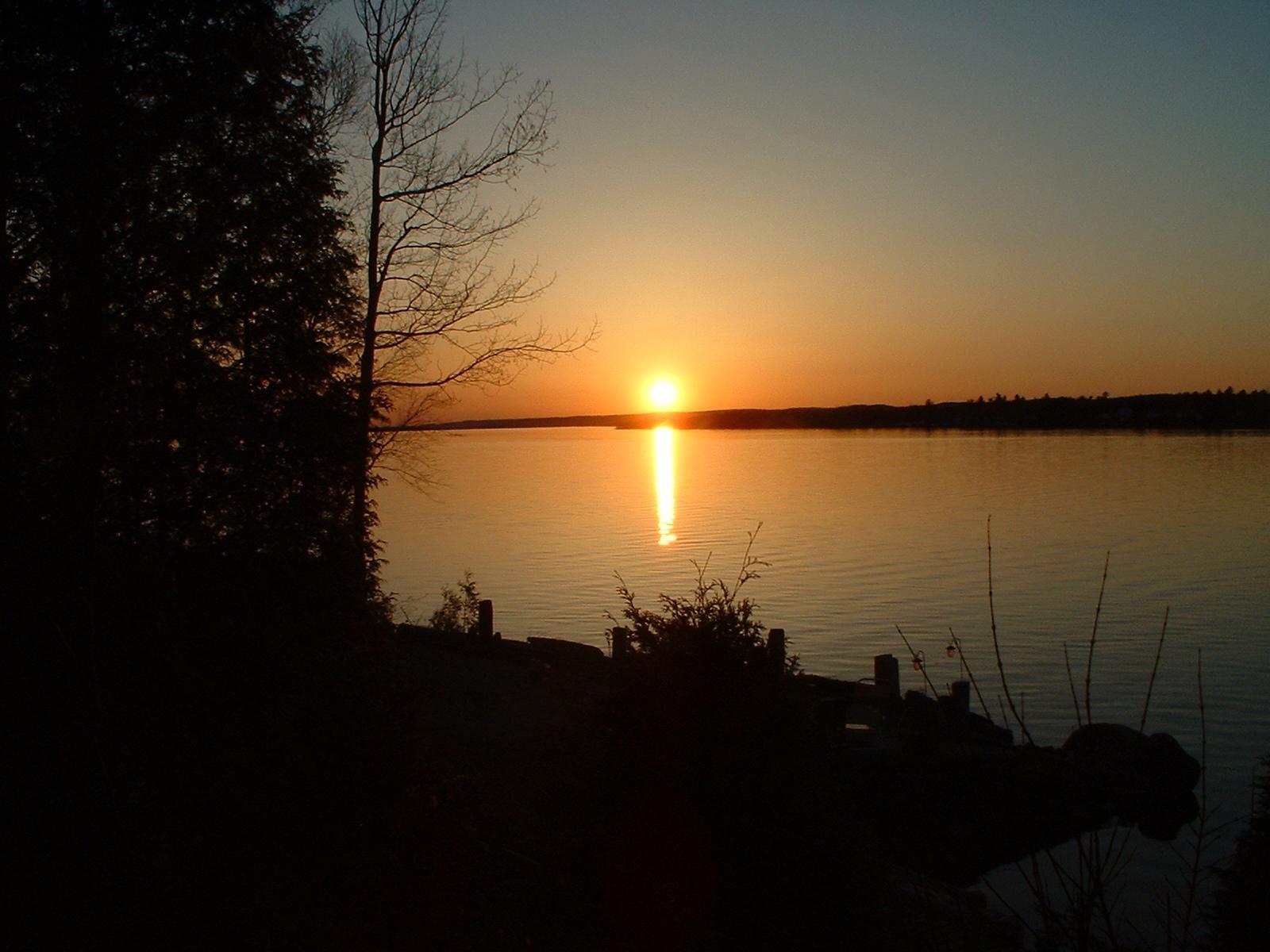 Sunset in Chute à Blondeau, Ontario.