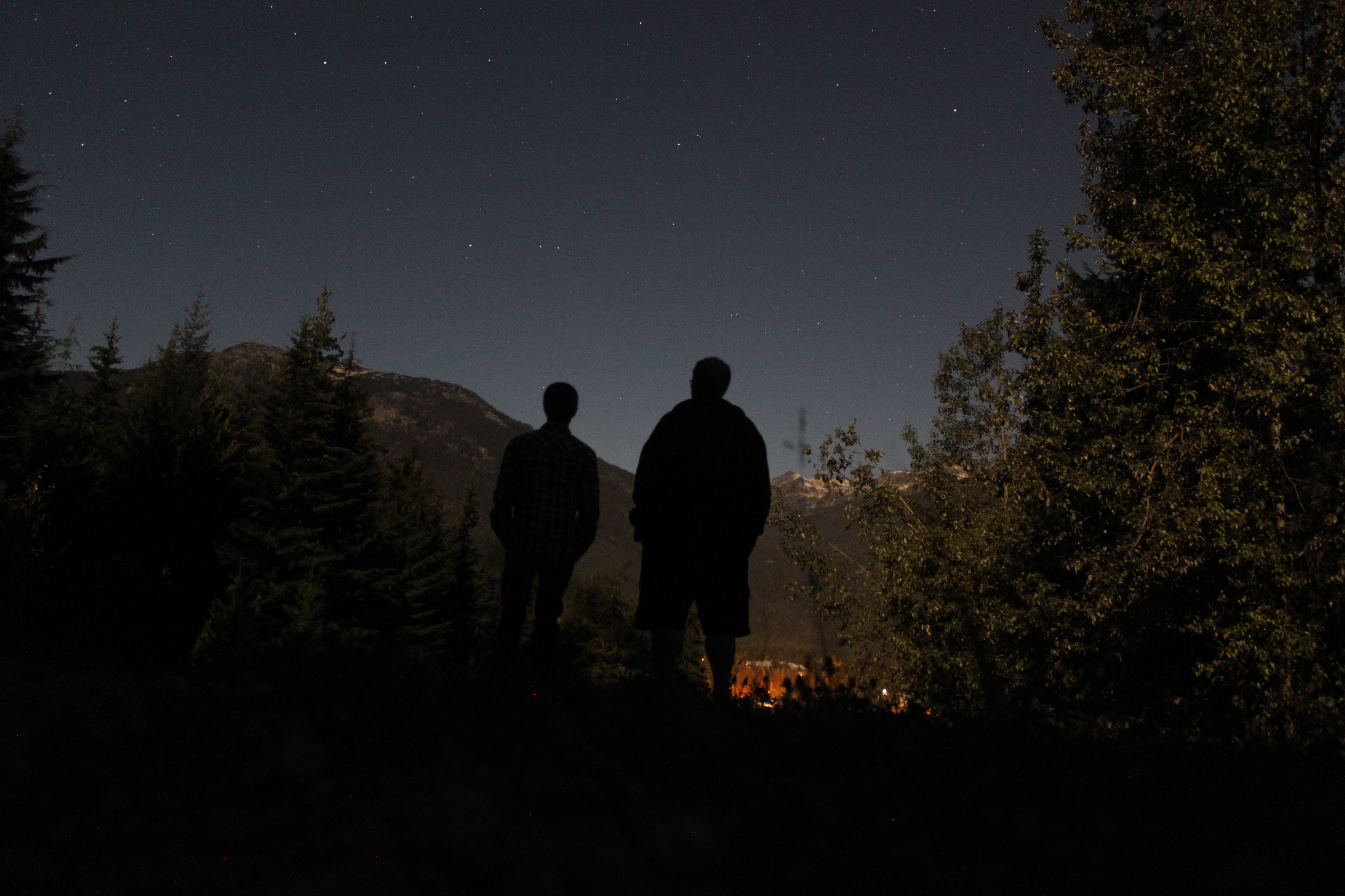 Hanging out under the full moon on Blackcomb staff hill in Whistler, British Columbia.